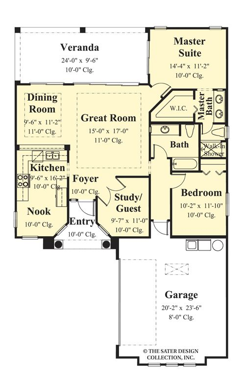 nice house plans designs direct #2: The Anacito House Plans First Floor Plan - House Plans by Designs Direct.