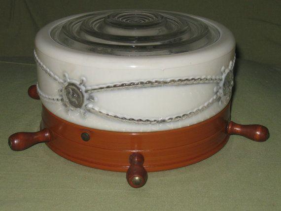 Flush Mount Nautical Ships Wheel Light RetroVintage by SaraLyn63, $42.75