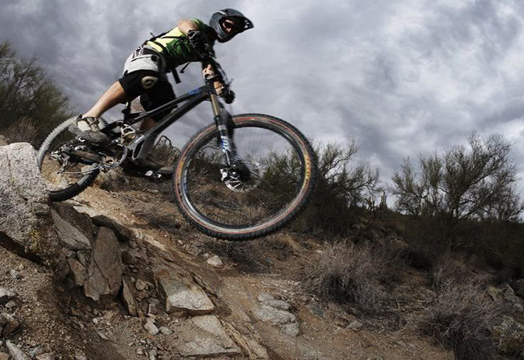 Downhill ride on professional tracks - Hard - Going down hill.