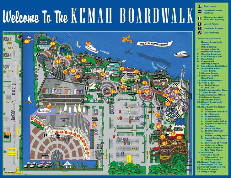 Map Of Kemah Boardwalk Places To Go Kemah Boardwalk