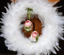 Romantický velikonoční věnec