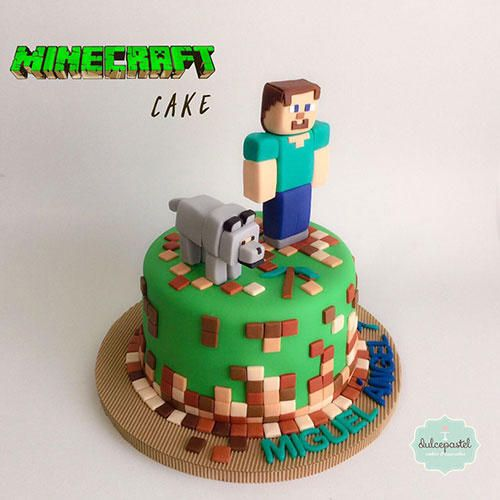 Torta Minecraft Medellín by Giovanna Carrillo