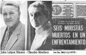 """Julio López Blanco, Claudio Sánchez (hoy reporteros de MEGA) y la portada del diario La Tercera informando del supuesto """"enfrentamiento"""""""