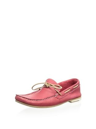 65% OFF Modern Fiction Women's Soft Leather Lace Boat Shoe (Red)