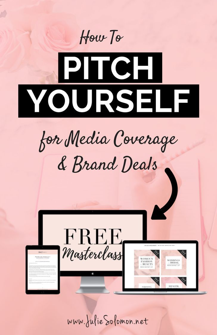 Free Masterclass every month, how to create your own press kit and pitch your first 5k brand deal. by Julie Solomon.
