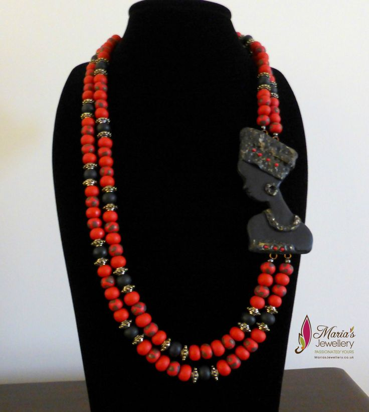 One of my hand made polymer clay African Lady Necklace...