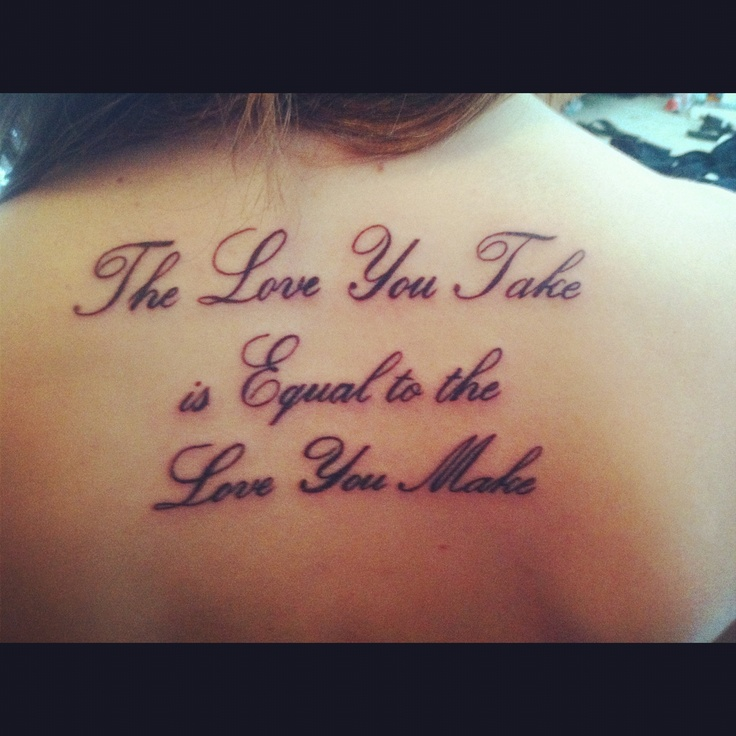 beatles lyrics back inked tattoo music tattoo pinterest the golden love you and you. Black Bedroom Furniture Sets. Home Design Ideas