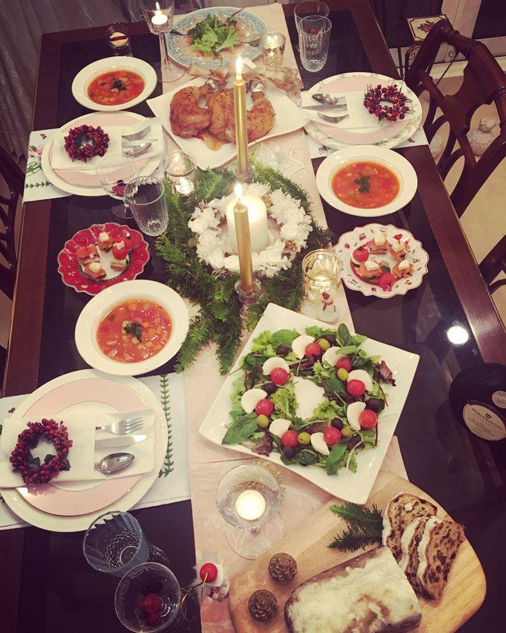 🎄🍽❤️ * * #🍽#🍴#🎄#🍾#🥂#🍷#🍗#🥗#🎂#🎅🏻#🎁#💝#🎉#🕯#クリスマスディナー#weihnachten#christmas#party#dinner#happy#stollen
