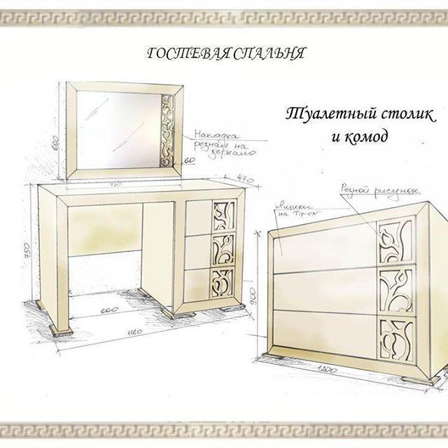 Проект гостевой спальни в г.Ялта <b>Фасады МДФ</b> крашеный ...