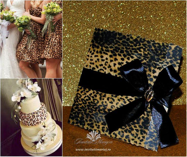 Animal print wedding