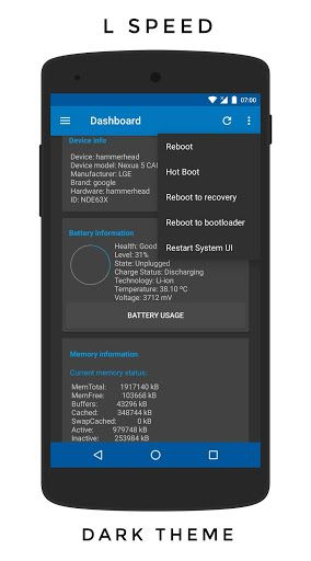 L Speed (Boost&Battery) [ROOT] v1.4.13-beta8 [Ad Free]   L Speed (Boost&Battery) [ROOT] v1.4.13-beta8 [Ad Free]Requirements:4.0.3Overview:L Speed is a modification that combines tweaks inside an intuitive application Its goal is to improve overall performance reduce significant lags and extend battery life.  REQUIRES ROOT!!! I AM NOT RESPONSIBLE FOR ANY DAMAGES ON YOUR DEVICE!!!  The mod will and should work on any device that meets its minimum requirement. You only need a rooted Android…