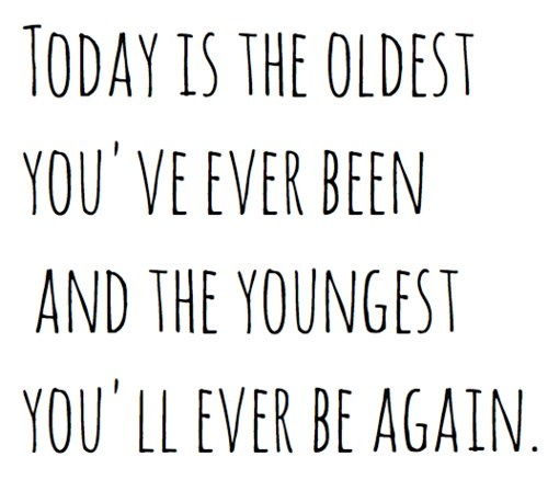 calm down and get older