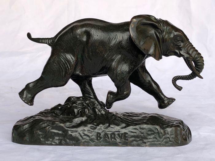Online veilinghuis Catawiki: Naar Antoine Louis Barye - bronzen sculptuur 'Elephant du Senegal' - begin 20e eeuw