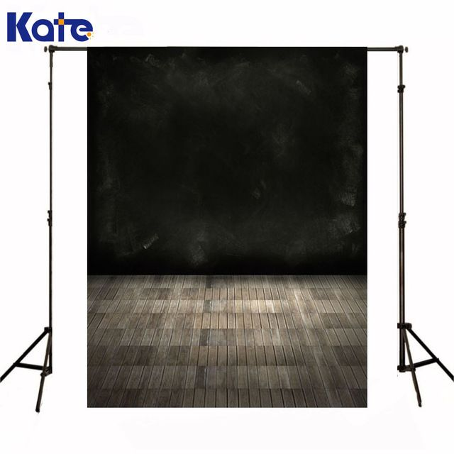 Kate Newborn Baby Backdrops Photography Black Painting Walls Fond Studio Photo Vinyle Brown Plaid Floor Studio Background