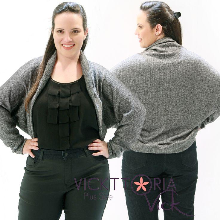 Procurando ropa plus size é acessórios com preço justo? Vickttoria Vick tem para mulheres que vestem do 44 ao 60 roupas a bom preço! Casaco Plus Size!