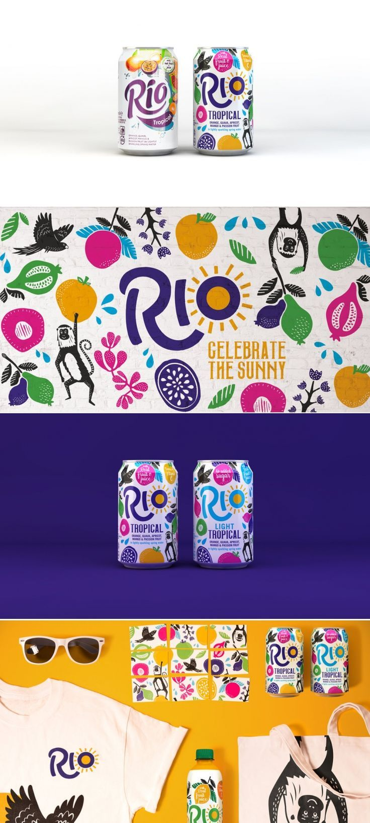 Celebrate the Sunny Moments with Rio Tropical Fruit Juice — The Dieline   Packaging & Branding Design & Innovation News