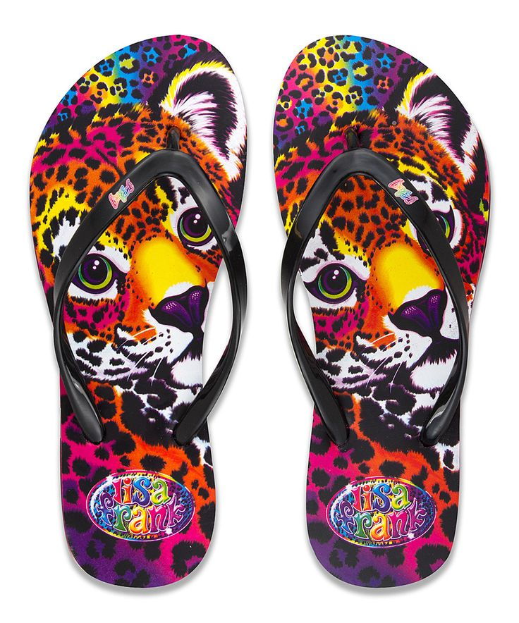Look what I found on #zulily! Lisa Frank Leopard Flip-Flops by Lisa Frank #zulilyfinds