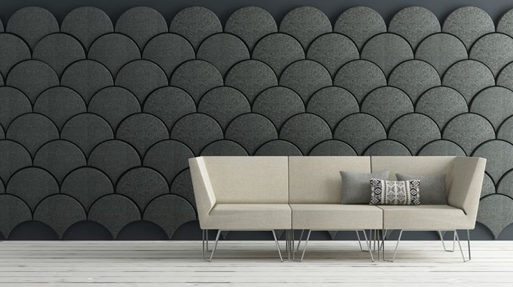 Ogee Drop 'gingko acoustic panel' by stone designs