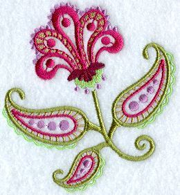 paisley flower embroidery