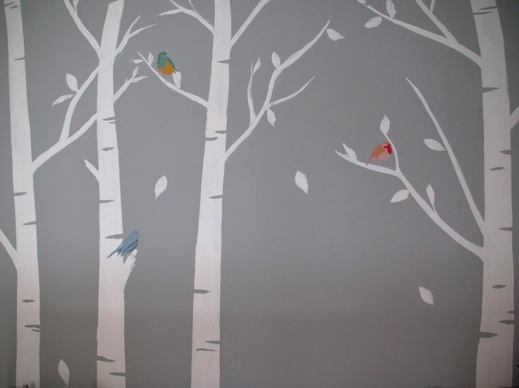 Best 25 birch tree mural ideas on pinterest for Birch trees mural