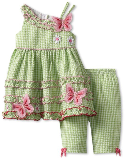 Amazon.com: Bonnie Baby Girls Infant Butterfly Seersucker Pant Set: Clothing