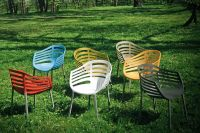Stripe Outdoor Chair #outdoorfurniture #chairs #contractfurniture