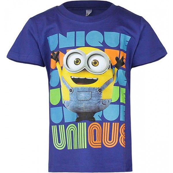 Minions t-shirt til børn i 100% bomuld og med flot stort motiv