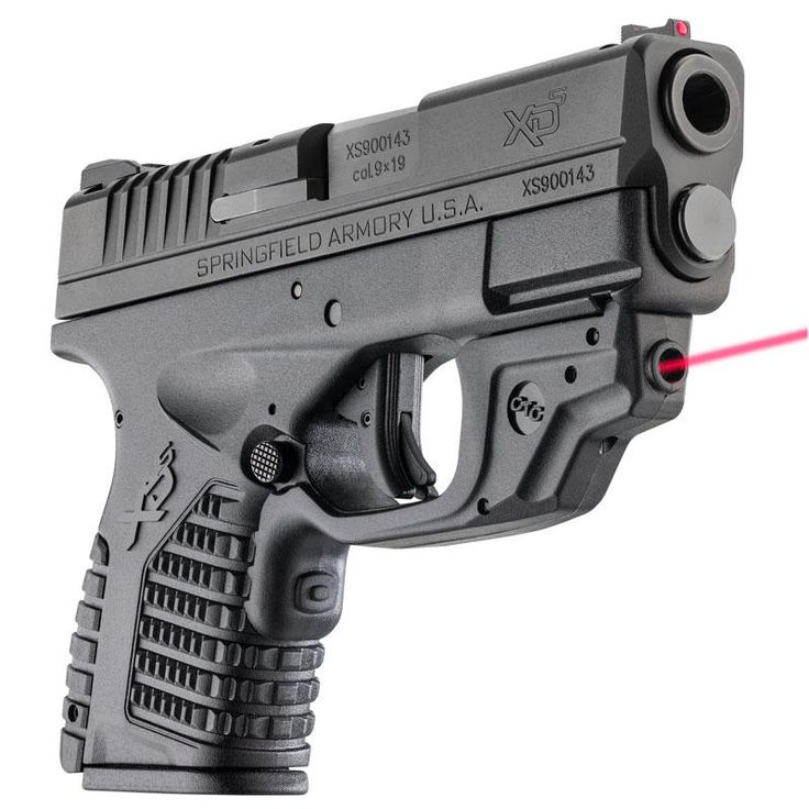 Springfield XDS 3.3 Single Stack 9mm Black Essentials Package with Crimson Trace Laserguard - $479.99 (Free S/H on Firearms)