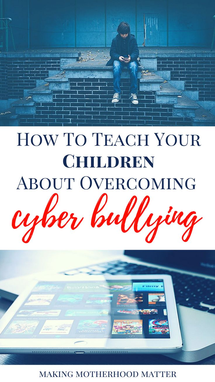 Discover this powerful article on bullying. Learn how to teach your children about overcoming cyber bullying. Visit www.makingmotherhoodmatter.com to see the top 5 tips for establishing safe use of the internet tools to prevent young children from becoming part of a cyber bullying incident. Share to join the anti bullying movement.