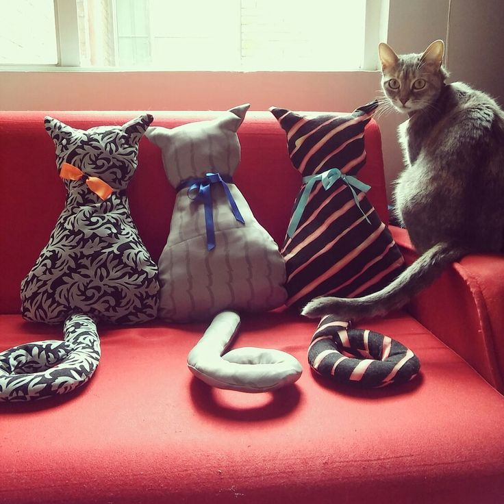 Cojines en forma de gato