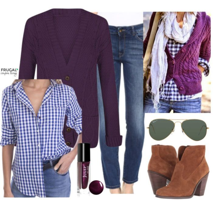 Frugal Fashion Friday Purple Fall Outfit