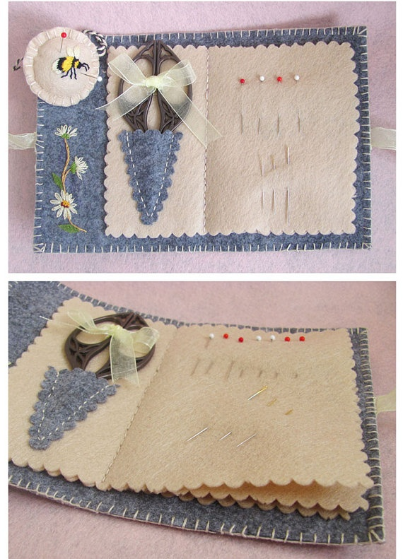 needle book & pincushion fob