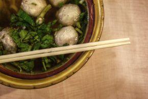 Spicy Pork Meatball Soup - adjust for some ingredients - add pork skin ...