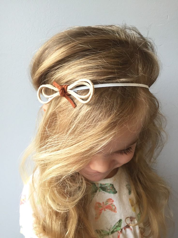 Knotted Suede Lace Bow Headband by ThePetiteHarper