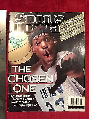 LeBron James Autographed St. Vincent/St. Mary's HS Sports Illustrated