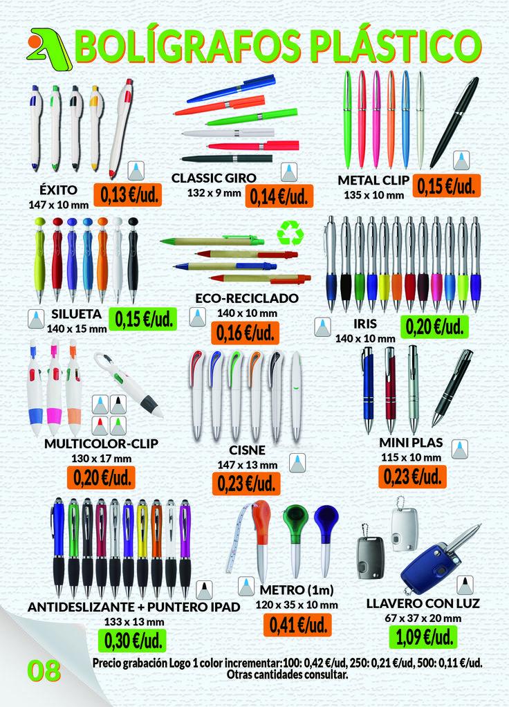 Página 8 - Bolígrafos Plástico