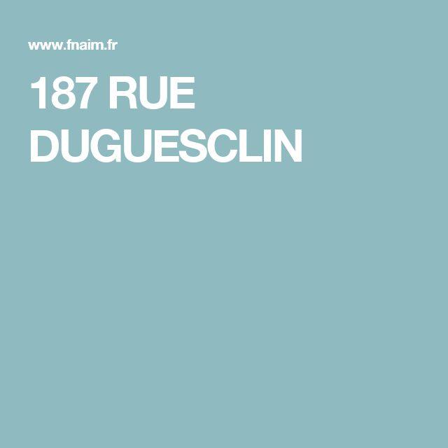 187 RUE DUGUESCLIN