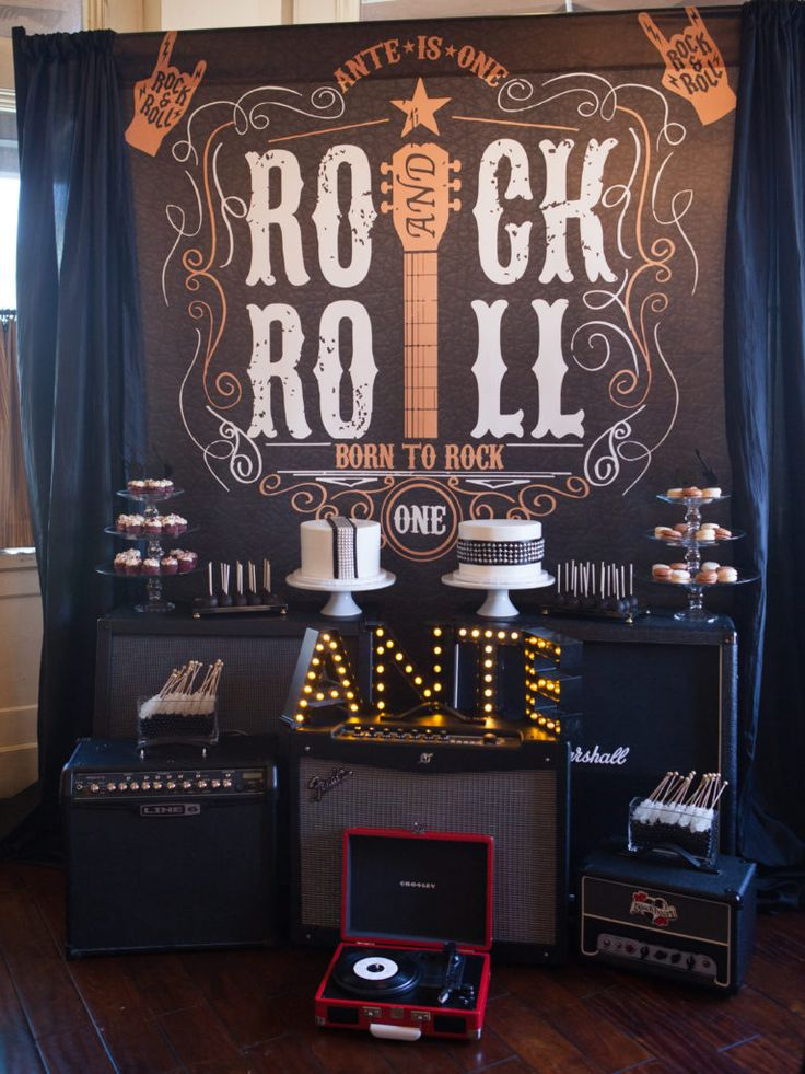 Readers Favorite Rock N Roll 1st Birthday Party