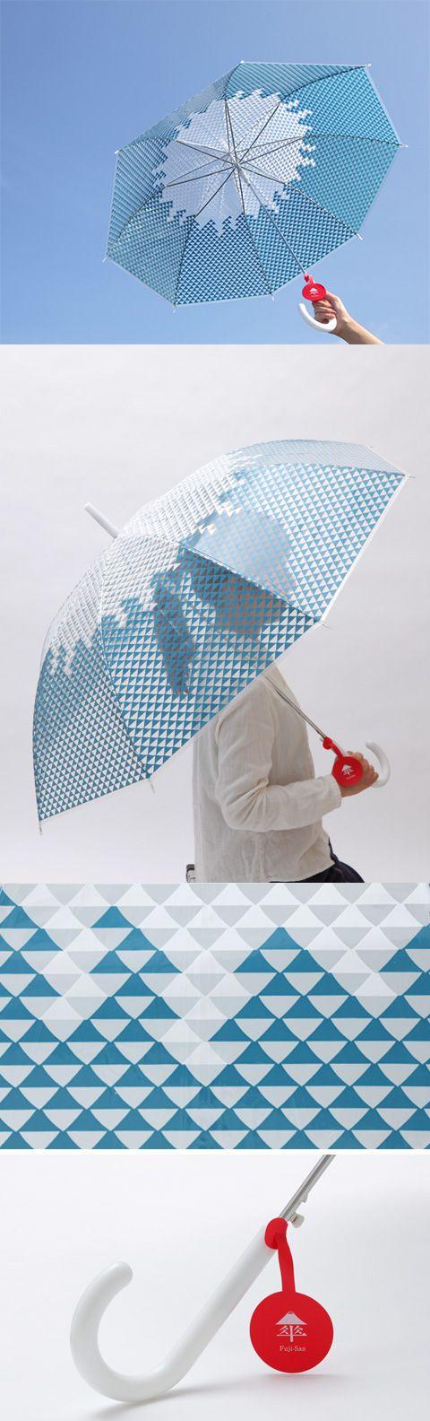 【富士傘(中川政七商店)】/雨の日も心はあっぱれ。さすだけで自分も周りも笑顔になっちゃう縁起のよい傘、その名も「富士傘(ふじさん)」。小さな富士山を集めてできあがった魔除けの意味を持つうろこ文様は、足元の悪い日に自分の身を守ります。持ち手には日の丸をイメージした名札付き。なくす心配もありません。富士傘をお守りがわりにたずさえて、おでかけをお楽しみください。 #fujisan #mtFUJI #fujisanmono