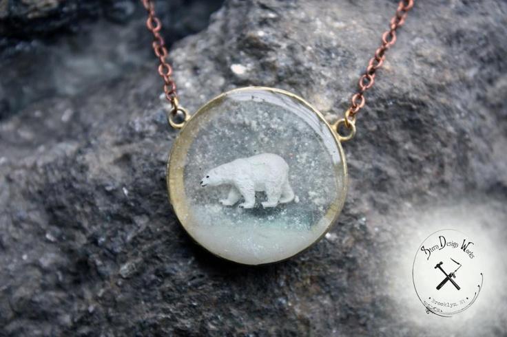Stern Design Works Polar Bear Menagerie in Brass