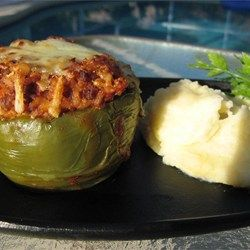 Kelsey's Favorite Stuffed Green Peppers Recipe and Video