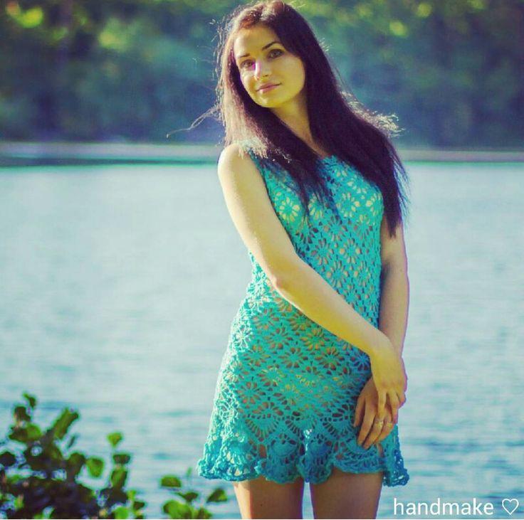 Lovely summer dress #handmake #crochet #instacrochet #dress #tunik #handmade #lace #blue #beachwear #summer #forewoman #style #fashion #etsy #туника #платье #ажур #длянее #мода #стиль #ручнаяработа #пляжнаямода #лето