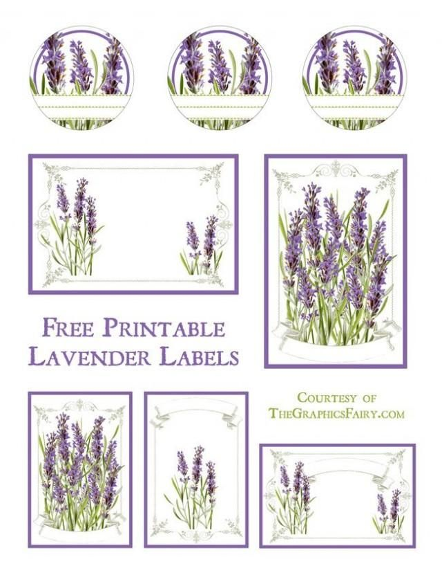 Lavender Labels Printable