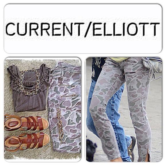🌺SOLD🌺Current Elliot Camo Jean sz 27 Fabulous Current Elliot Camo Jean in excellent condition. Zipper details! Current/Elliott Jeans
