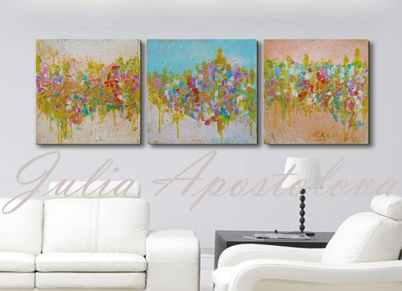 #60inch #OriginalPainting #Triptych #TriptychPainting #AbstractArt #HugeWallArt #Minimalist #ModernPainting #AbstractLandscape #PastelColours #PastelPainting #GoldPainting #Turquoisepainting #Art ##artforsale #buyers #artlovers #collectors by #JuliaApostolova