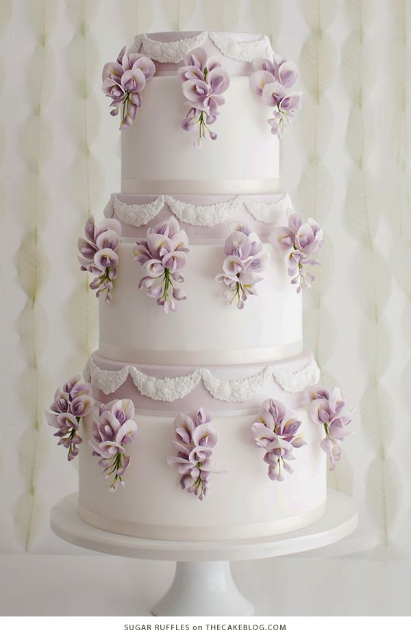 sugar flowers for wedding cakes how to make 16 best gumpaste fondant wisteria images on 20573