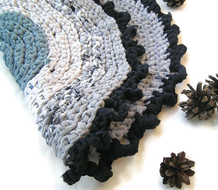 Crocheted Chair Pad Small Round Crochet Upcycled Rag Rug, Play Mat, Small  Rag Rug, Blue Grey Small Round Crochet Cat Cat Mat, Chair Seat Pad, Cats  Bed Beds, ...