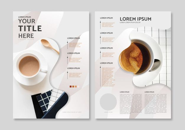 Magazine layout template Vector | Free Download