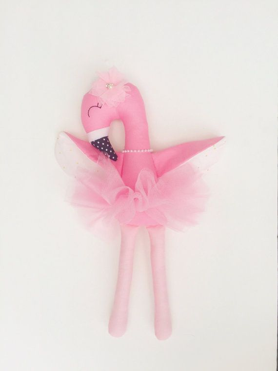 Flamingo doll fabric doll handmade doll by LittleSunshineShop11