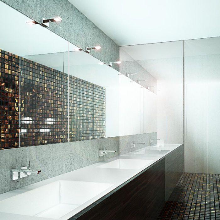 PARAGNA | rendl light studio | Bathroom wall light with LED technology. #lighting #design #bathroom #LED
